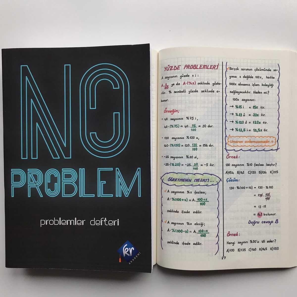 No Problem Matematik Problemler Defteri